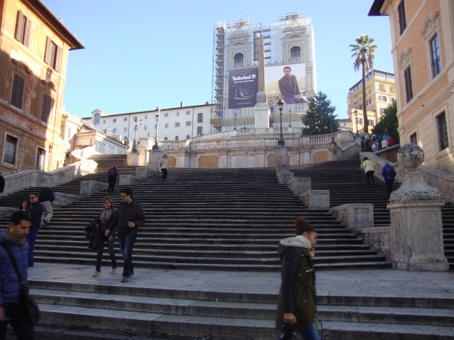 Spanish Steps - First stop on the tour!
