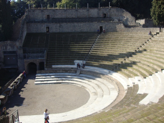 Their theater. The marble seats were for the rich nobles.
