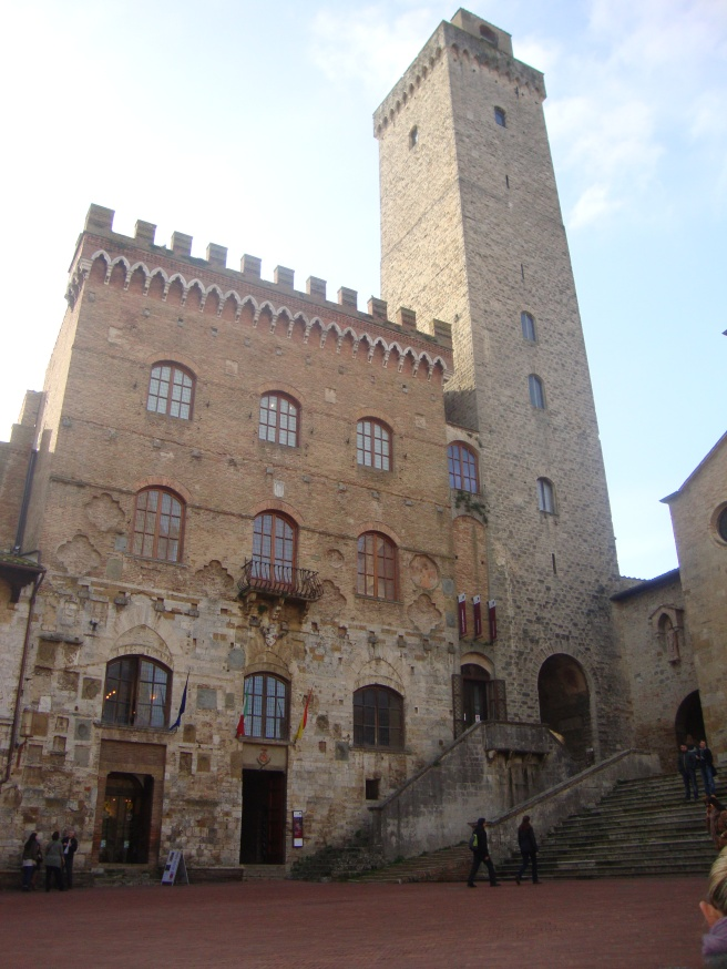 The main church in San Gimignano, beautiful inside.