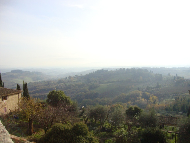 View from inside the walls of San Gimignano