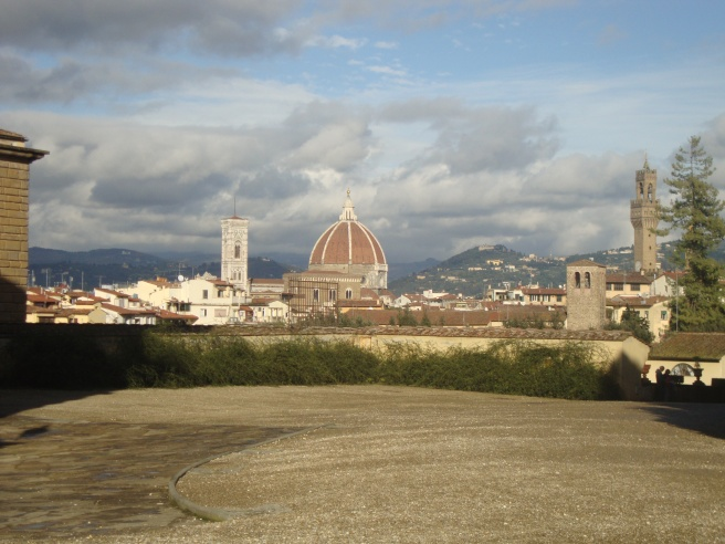 View of the Duomo from the gardens