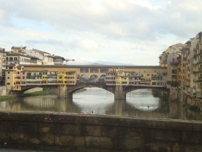 View of Ponte Vecchio from another Ponte (bridge)