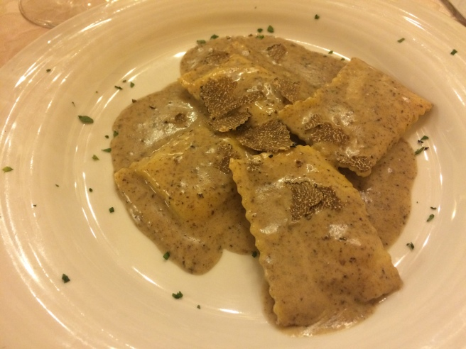Truffle ravioli. Look at those shavings. This would be my other top two dish of the trip.