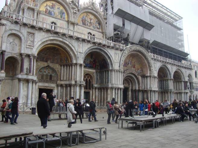 St. Marks Basilica with a little restoration going on.
