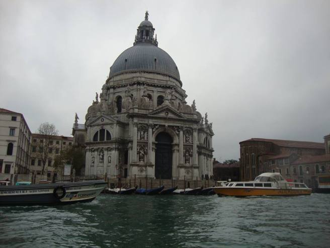 Santa Maria della Salute. This was built by the Venetians as a votive offering to Our Lady of Health during the 1600's when Venice was being wrecked by the plague.